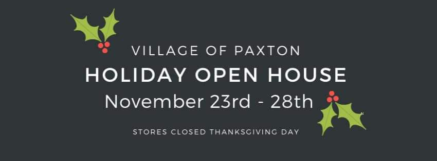 Village of Paxton Holiday Open House